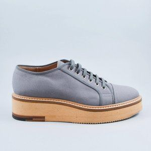 Dries Van Noten Grey Cork Platform Sneakers sz 41